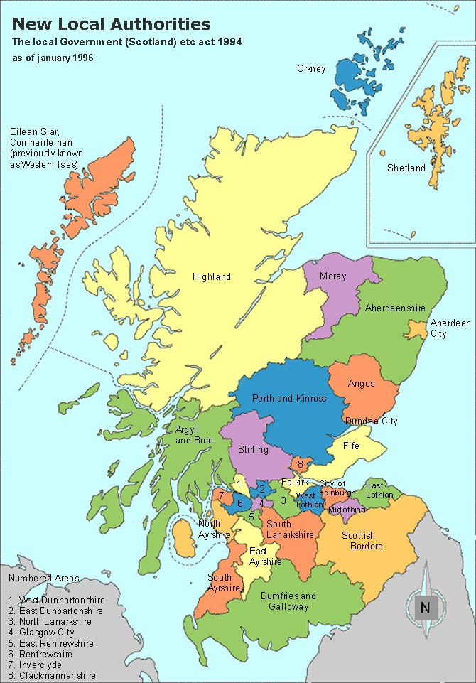 Scotland Clan Map – Authorities Map and Regions and Towns Map ...