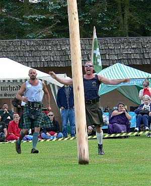 Tossing the Caber