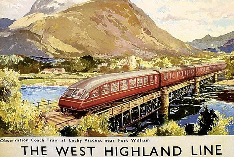 West Highland Line Vintage Poster