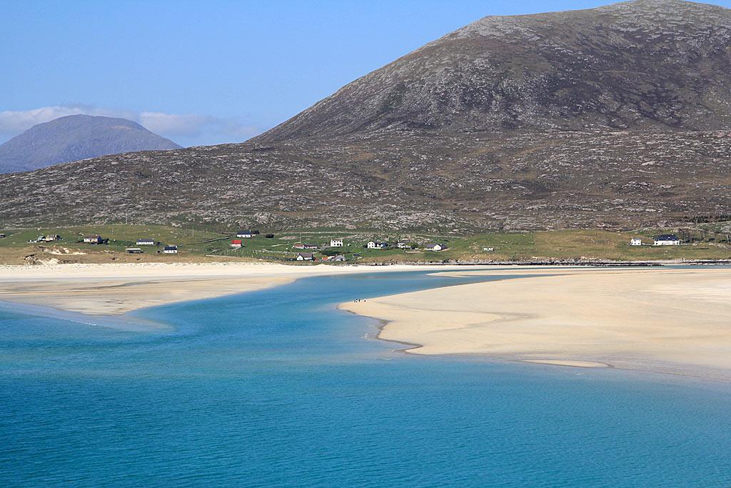 Luskentyre beach harris map
