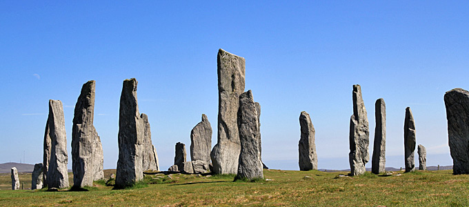 Callanish Standing Stones and Stone Circle on the Isle of Lewis in the Outer Hebrides