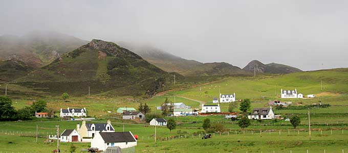 The wee village of Staffin on the Isle of Skye on the Trotternish Peninsula