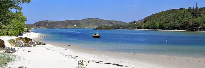 The Silver Sands of Morar near Mallaig