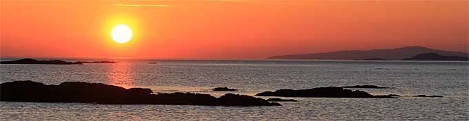 Sunset from the beach at Arisaig