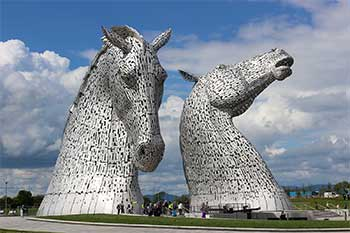 Visitor Attractions In Scotland The Kelpies Near Grangemouth