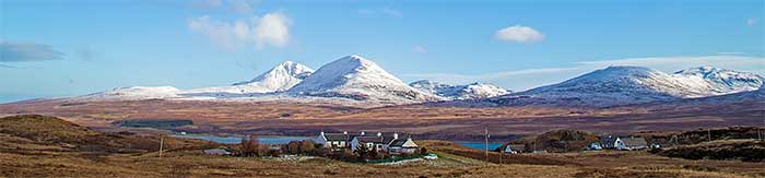 Winter in Scotland - Snow on the Paps of Jura
