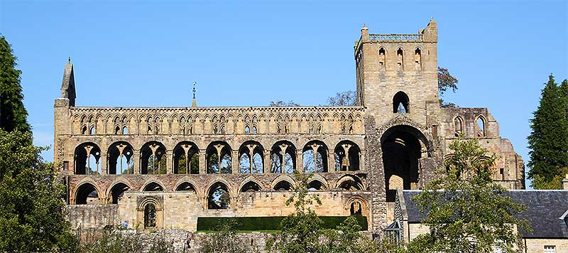 Jedburgh Abbey in the Town of Jedburgh