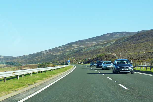 Stretch of Single Carriageway on the A9