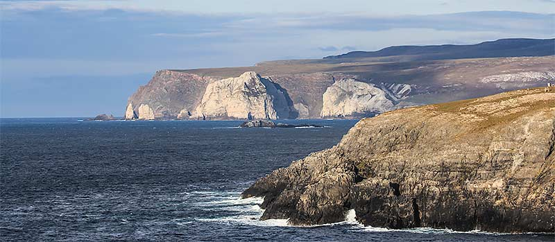 Rugged north coast of Scotland