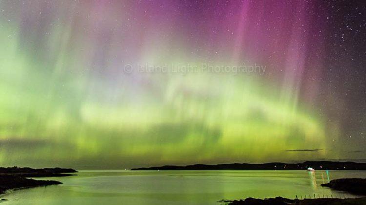 Northern Lights over Loch Ewe