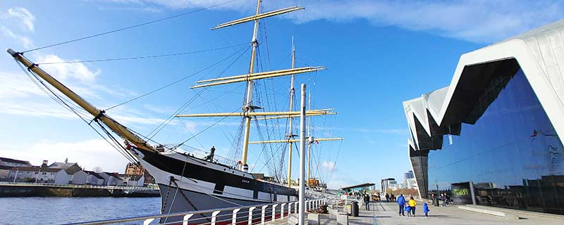 Glasgow Riverside Museum and Tall Ship Glenlee
