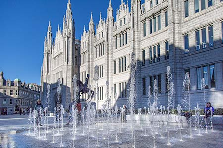 Aberdeen City Council Offices and Fountain