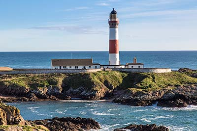 Buchan Ness Lighthouse in Boddam