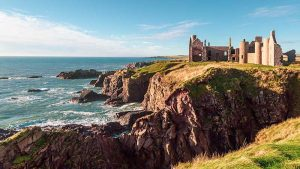 Slains Castle Coastal Route Aberdeenshire