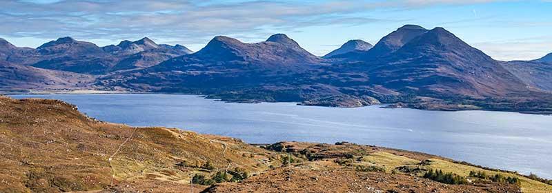 View over Upper Loch torridon