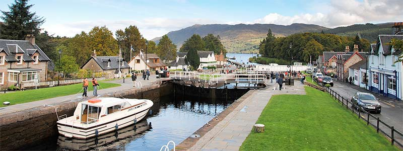 Locks in Fort Augustus Loch Ness and Caledonian Canal