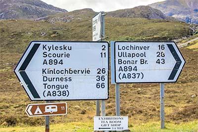 Roadsign Scotland